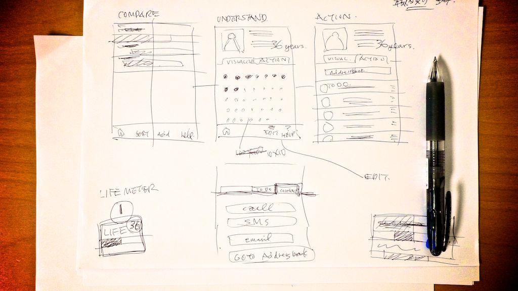 iPhoneアプリと言えど、始まりは紙とボールペン